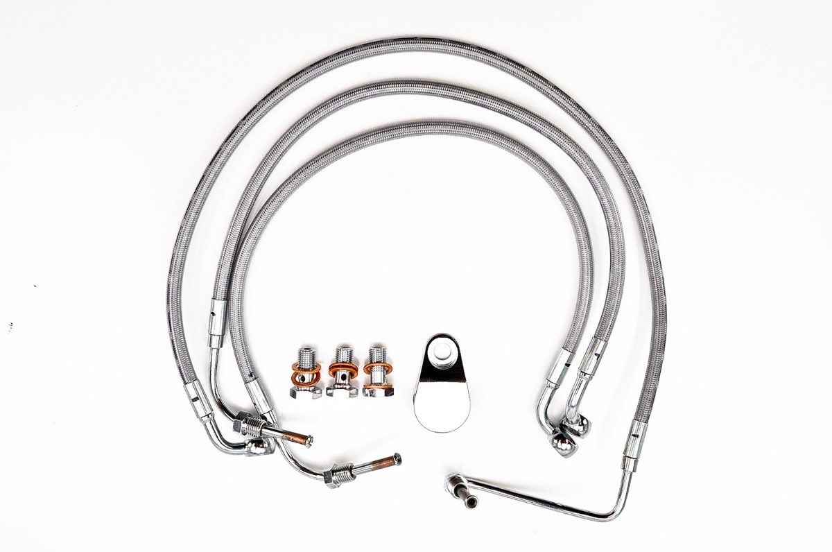 02-05 V-Rod Goodridge Econoline Front Brake Line Kit, 3