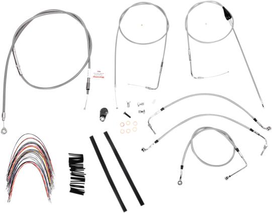 Burly Brand Extended Cable/Brake Line Kit for 14
