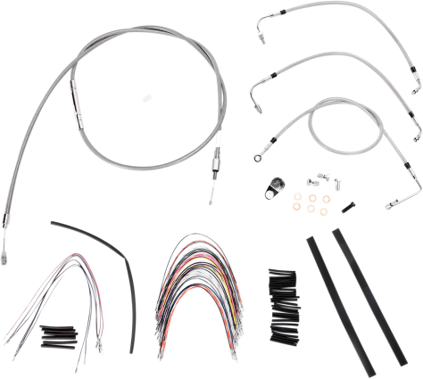 Burly Brand Extended Cable/Brake Line Kit for 18in. Ape