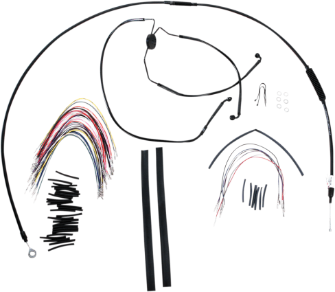 Burly Brand Extended Cable/Brake Line Kit for 16in. Ape