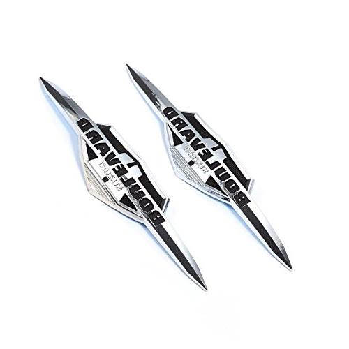 3D 2PCS Motorcycle Gas Tank Emblem Badge Decals