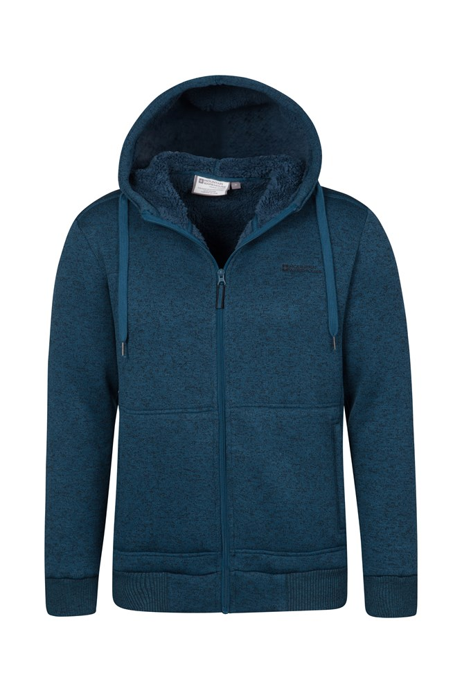 Mountain Warehouse Nevis Mens Fur Lined Hoodie