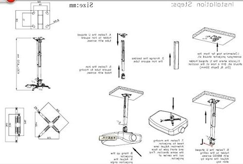 Projector Mount, Ceiling Wall Mount Hanger Universal LCD/DLP
