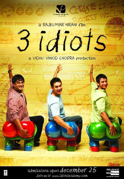 """""""3 Idiots"""" Poster"""