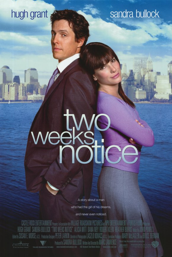 Two Weeks Notice Movie Posters From Movie Poster Shop