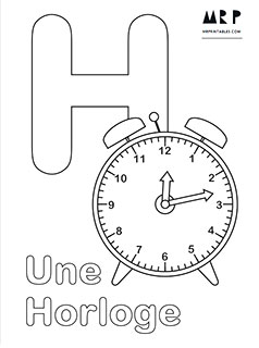 French Alphabet Coloring Pages Mr Printables