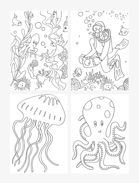 Under The Sea Coloring Pages : under, coloring, pages, Under, Coloring, Pages, Printables
