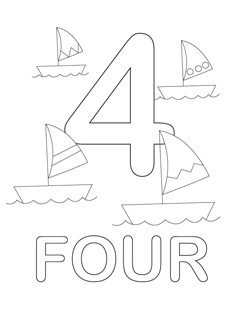 Number Coloring Pages - Mr Printables | number coloring pages for toddlers