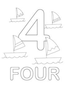 Numbers 1 10 Coloring Worksheets