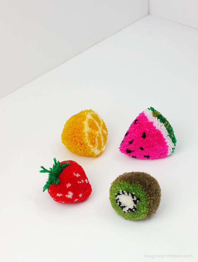 Pom pom crafts, Pom Pom Fruit Tutorial
