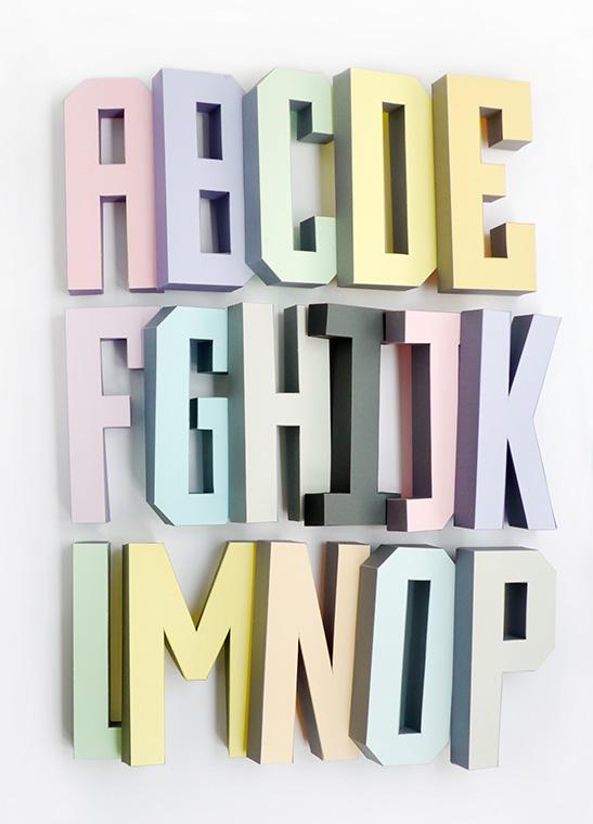 3d alphabet templates mr
