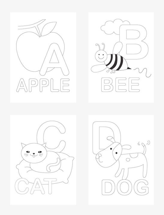 Alphabet Coloring Pages Mr Printables