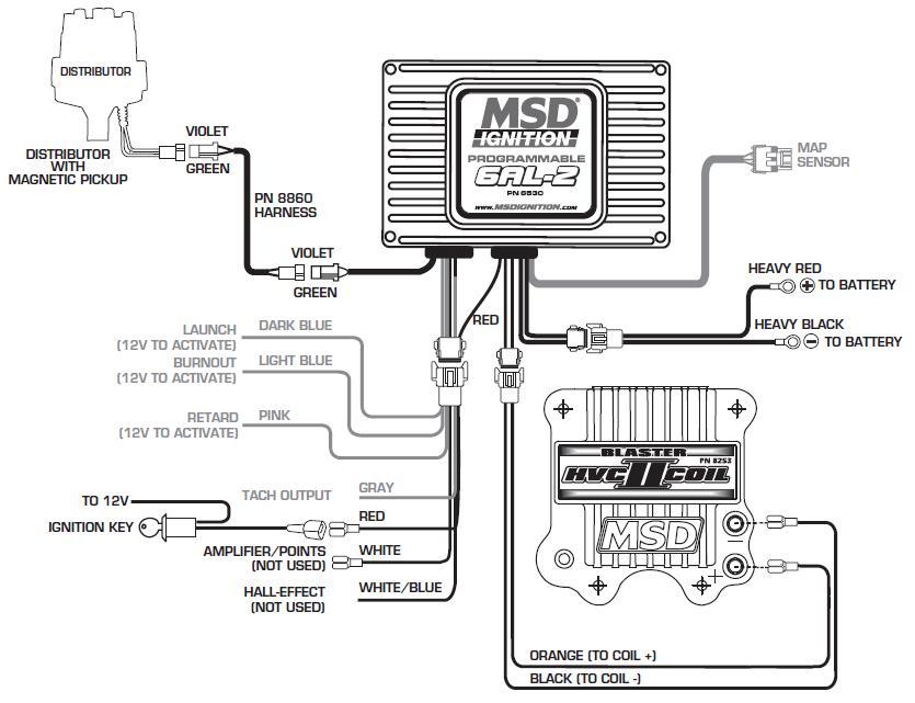 msd street fire distributor wiring diagram