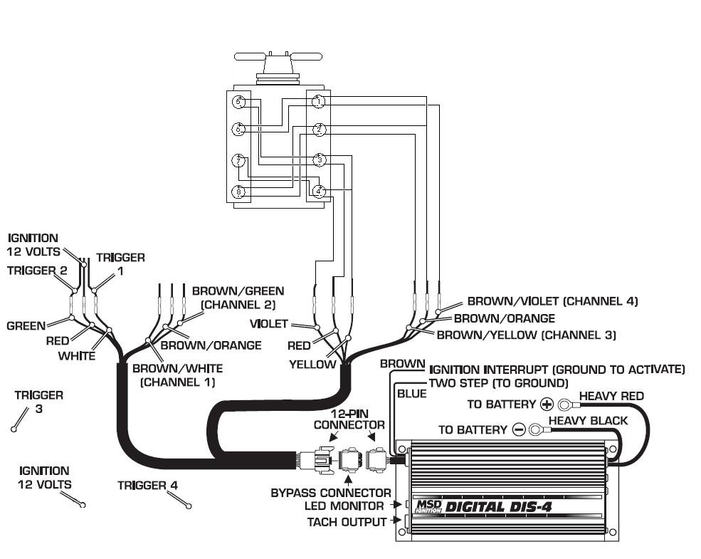 msd distributor wiring diagram 2002 nissan sentra radio fast edis to dis 4 parallel coils - blog
