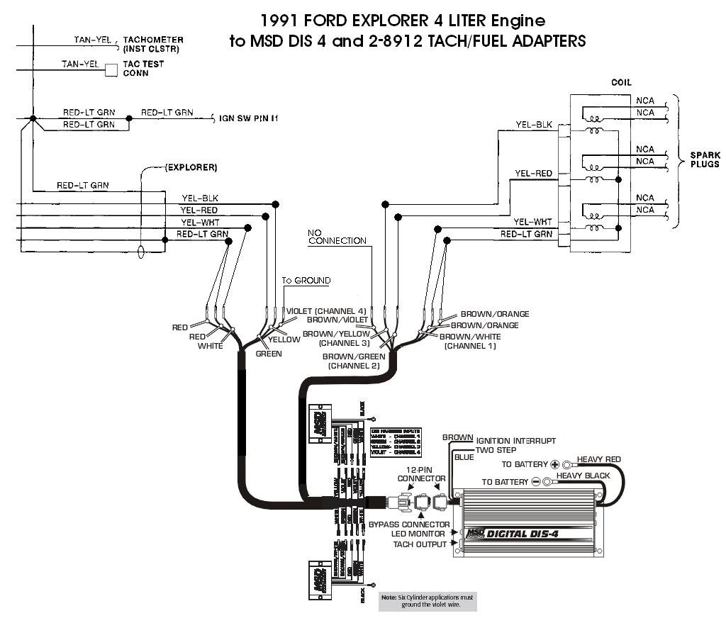 msd 6al wiring diagram lt1 china quad ford 91 explorer 4l dis 4 with 8912s blog