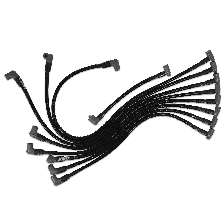 Msd Sleeved Spark Plug Wires For Sbc Over Valve