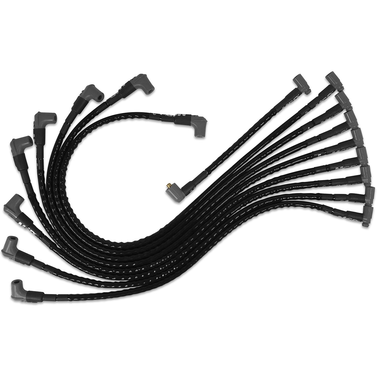 MSD 35591 Sleeved Spark Plug Wires for SBC under exhaust