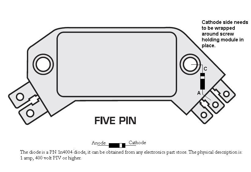5 Pin HEI Module Diode Fix