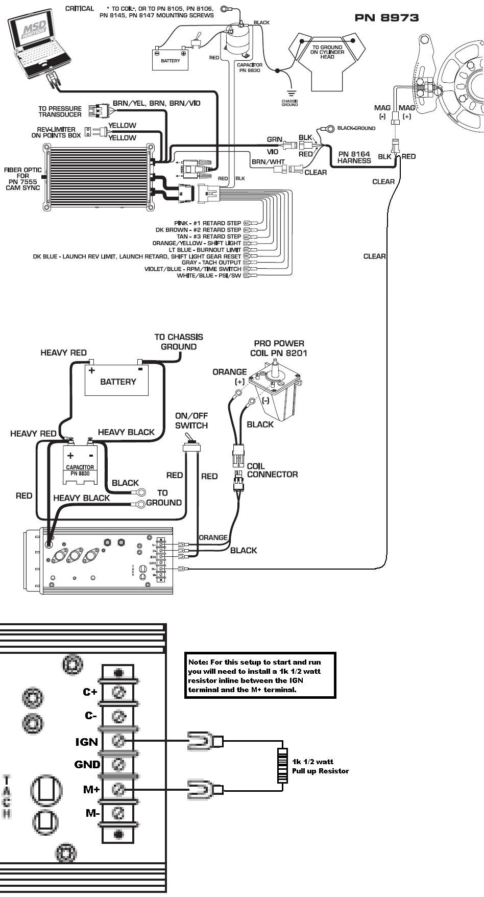 Ignition Wiring Diagram Msd 6m 2 MSD Ignition Coil Wiring
