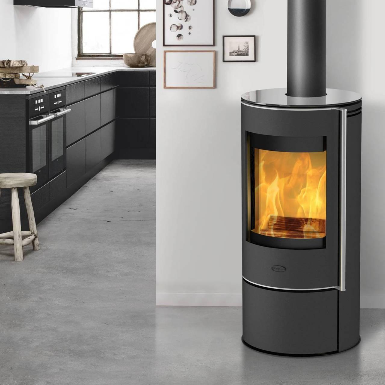 Fireplace Kaminofen Rondale Glas, 5 Kw, Ext. Luftzufuhr, Kamin, Ofen