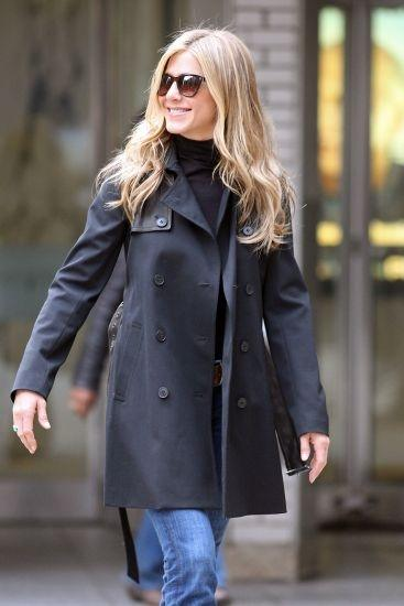 Jennifer Aniston y su look de invierno  Fotos  MujerdeElite