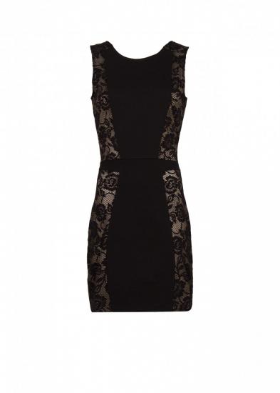 Vestido corto negro con encaje a los lados ideal para asistir a una boda  Fotos  MujerdeElite