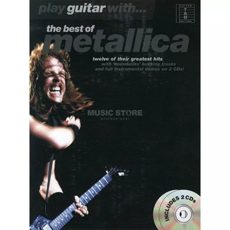 music sales play guitar with: metallica tab/cd