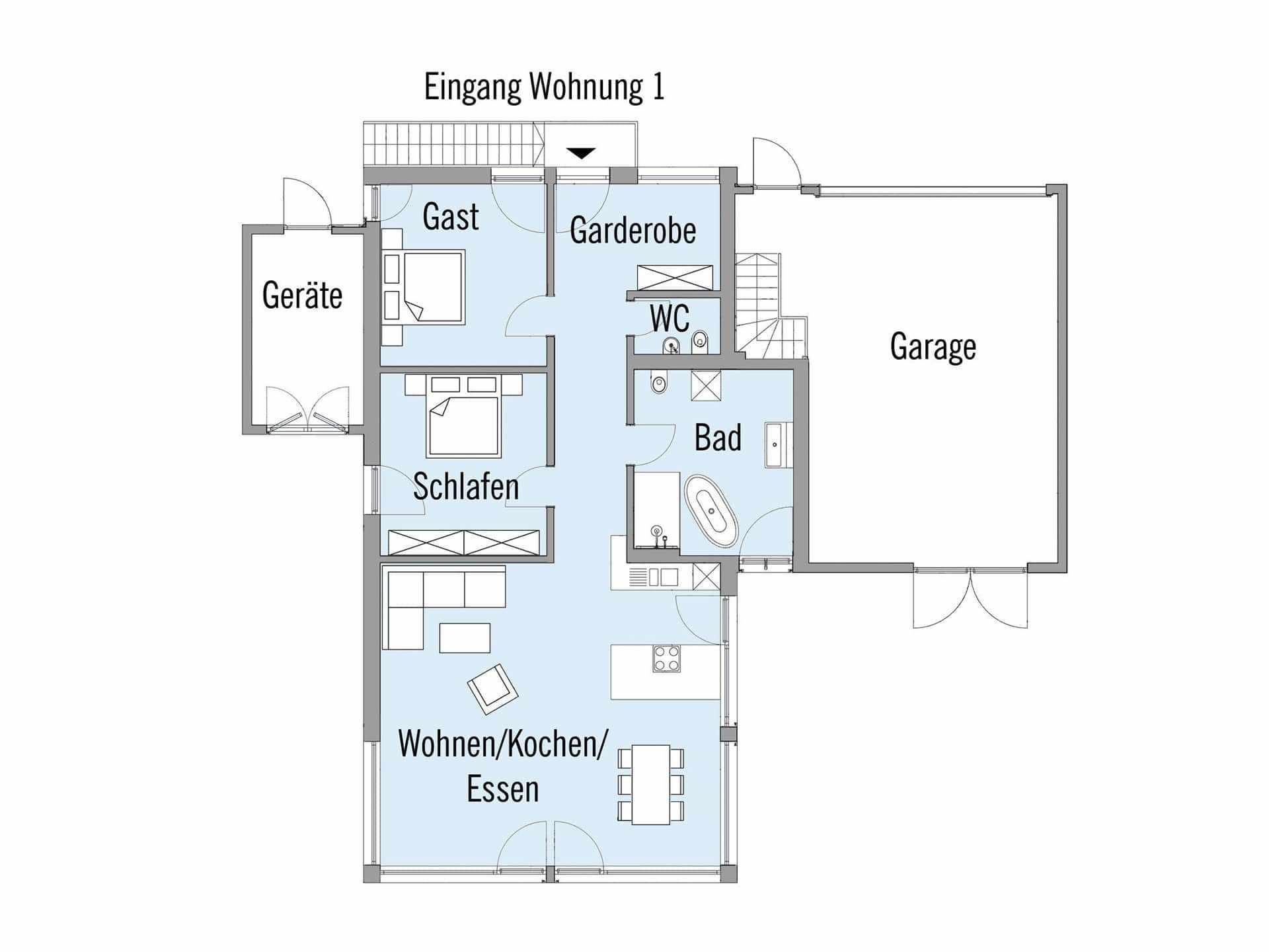 Grundrisse Mit Einliegerwohnung Im Keller Wohn Design