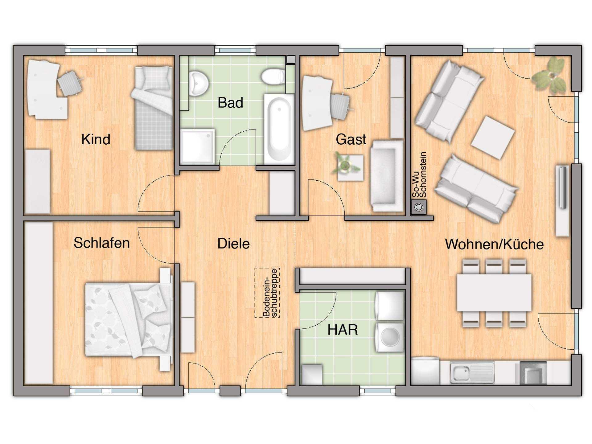bungalow grundriss bungalow haus grundriss luxus grundriss haus grundriss. Black Bedroom Furniture Sets. Home Design Ideas