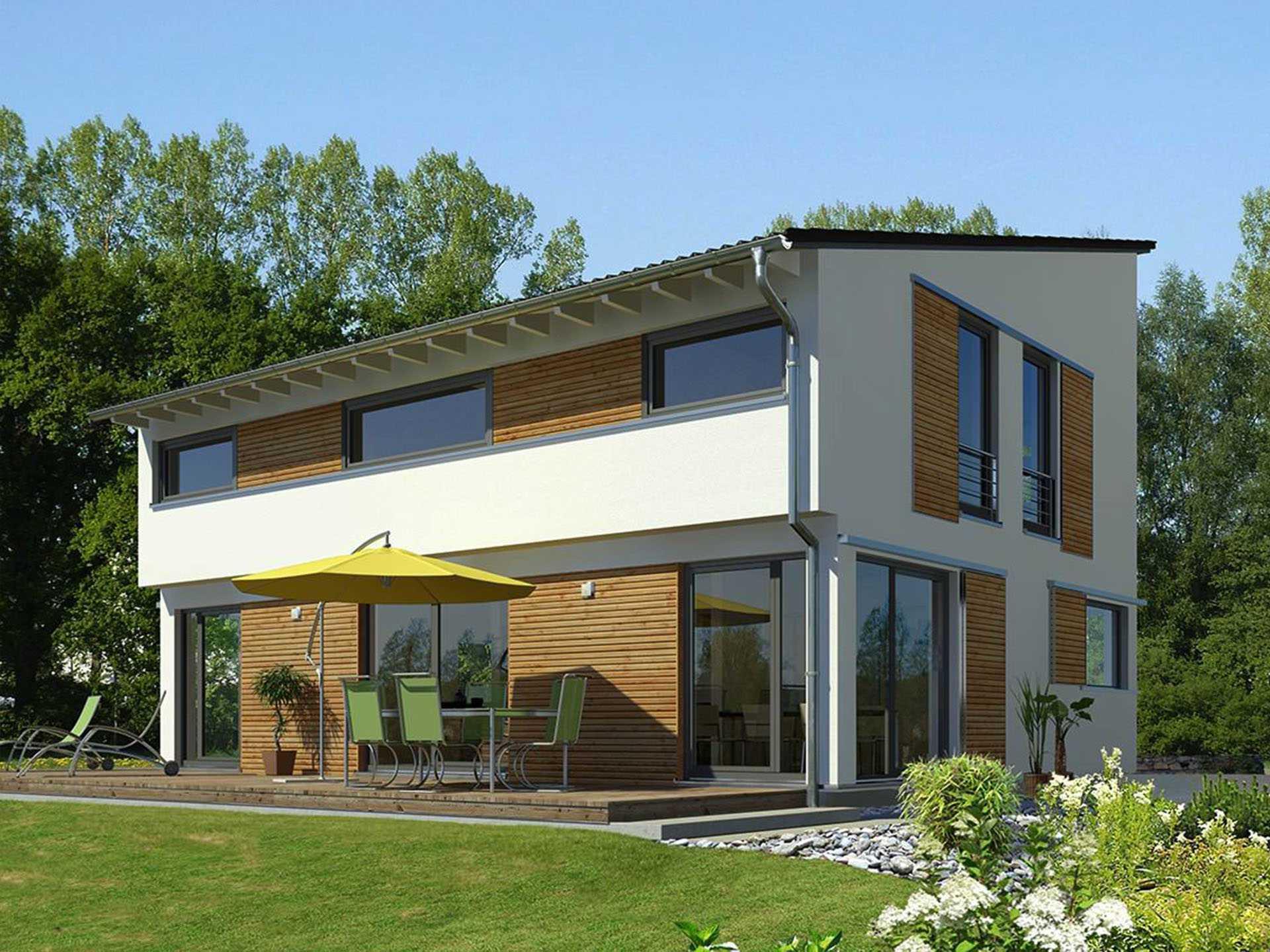 Moderne Hauser Mit Satteldach Wohnhalle Bis Unter Das Dach