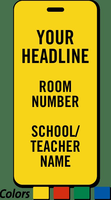 school hall passes template