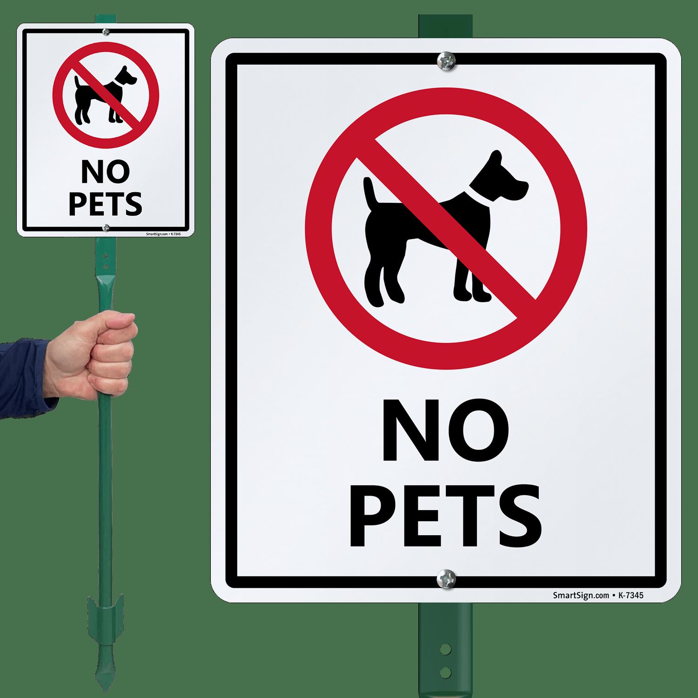 No Pets Sign Amp Stake Kit For Yard Sku