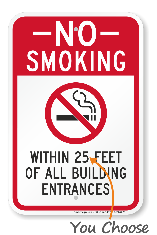 no smoking within 25