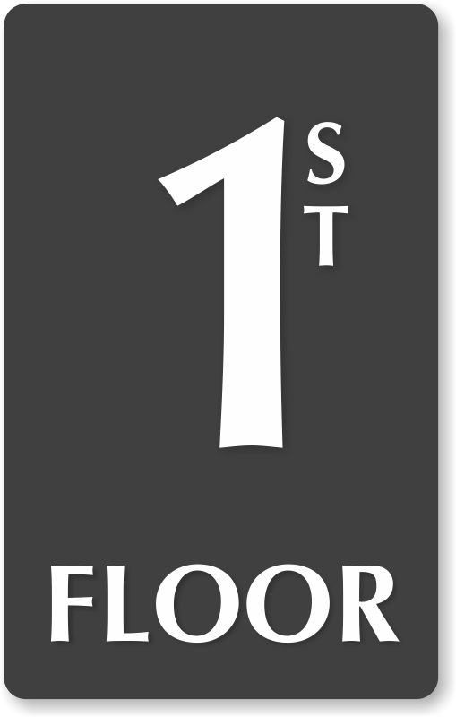 Floor Number Signs  Braille EngravedGlow in dark Stair