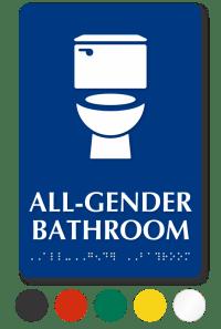 All-Gender Restroom Signs | Transgender Restroom Signs