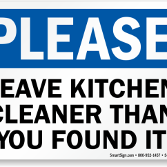 Kitchen Signs For Work Island Casters Courtesy At Best Price Zoom Buy