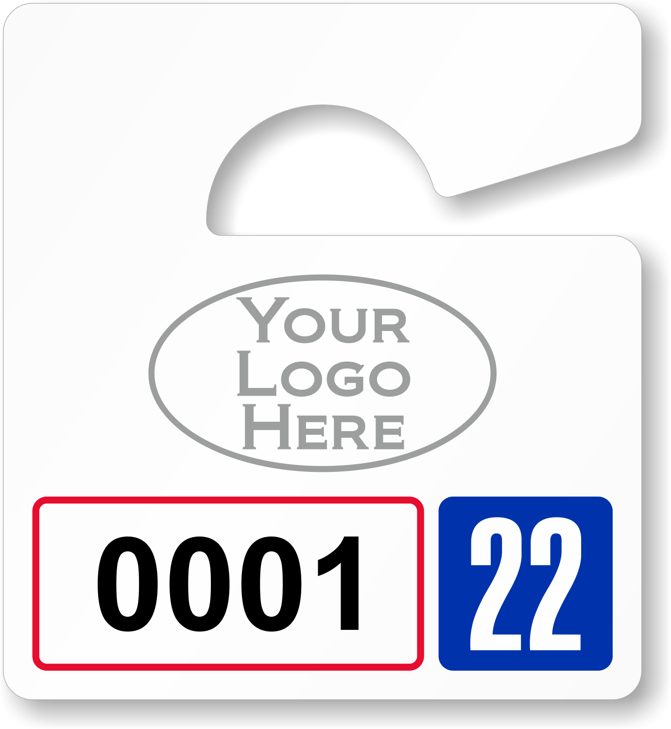 Pretty Hanging Parking P Template Images >> Guest Parking Passes ...