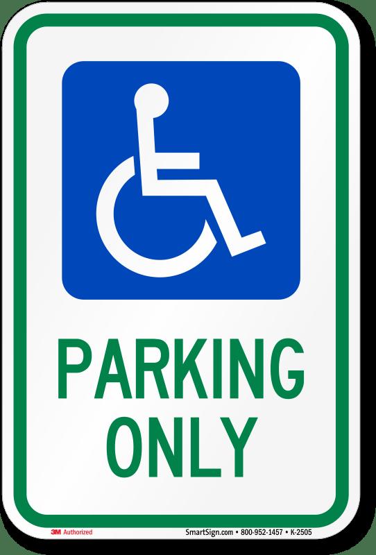 ohio handicapped parking sign