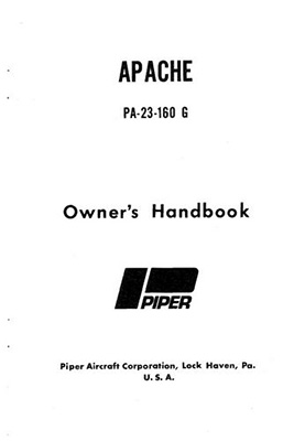 1959-1961 Piper PA23-160 Apache Owner's Manual (753-574