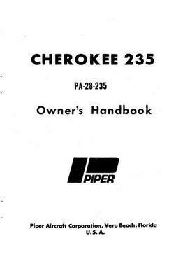 1973 Piper PA-28-235 Cherokee Owner's Manual (761-514