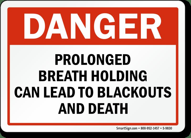 Danger Prolonged Breath Holding Lead To Blackouts Death