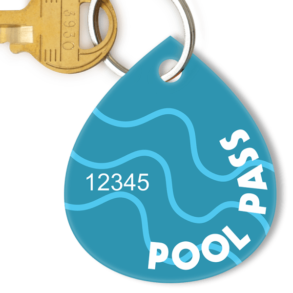 Waterdrop Pool Pass with Blue Swirls Quick Shipping SKU