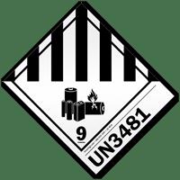 Class 9 Lithium Battery UN3481 Labels, 250 Labels/Roll