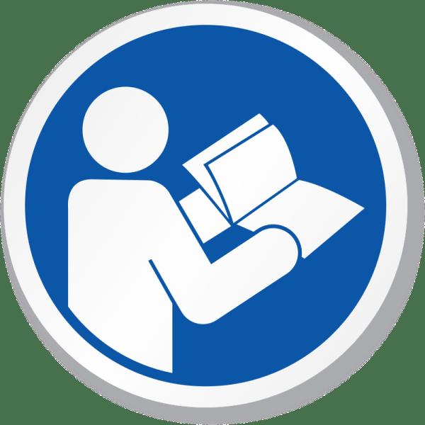 Read Operators Manual Symbol ISO Mandatory Sign SKU IS