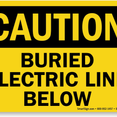 Electrical Panel Hazards Frog Brain Functions Diagram Buried Cable Signs | Warning