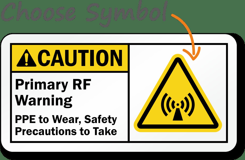 Custom Rf Warning Sign