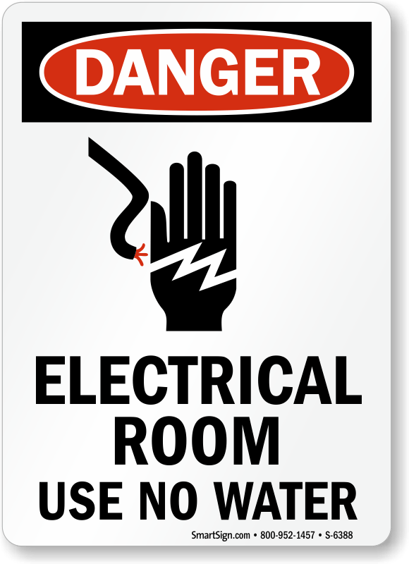 Electrical Room Signs Electrical Room Warning Signs