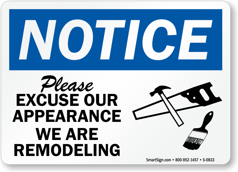 Image result for remodeling sign