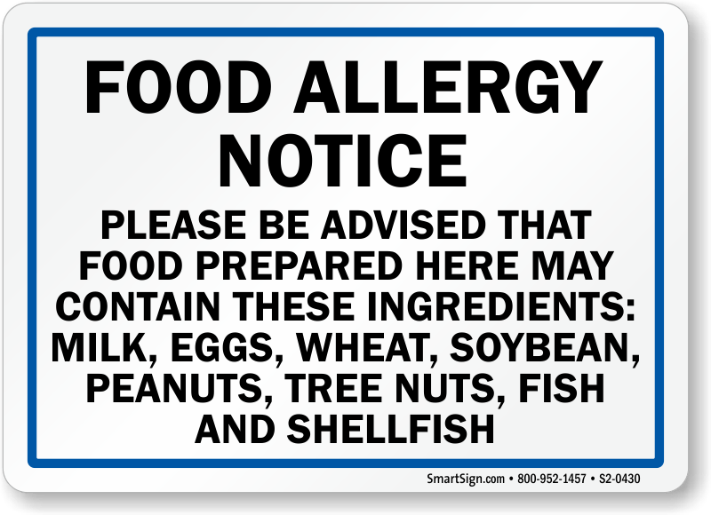 Image Result For Printable Peanut Allergy Signs