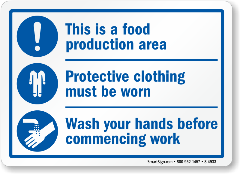 kitchen signs for work zinc top island food preparation mysafetysign com zoom price buy